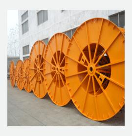 orange plastic cable reel